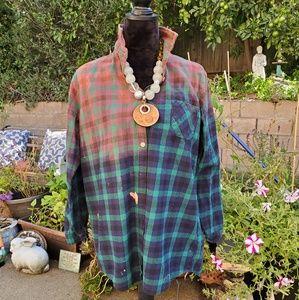 Bleached Flannel buttondown, Merona XL